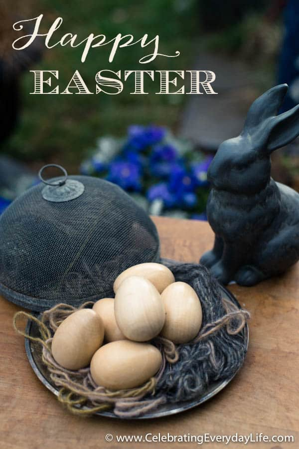 Simple Wooden Eggs, Simple Easter Decorations, Happy Easter, Celebrating Everyday Life with Jennifer Carroll