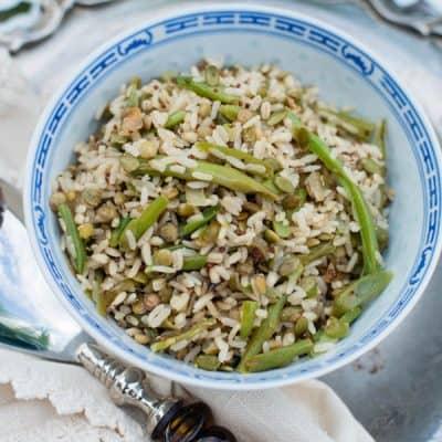 Quinoa, Barley, & Lentil Pilaf Recipe