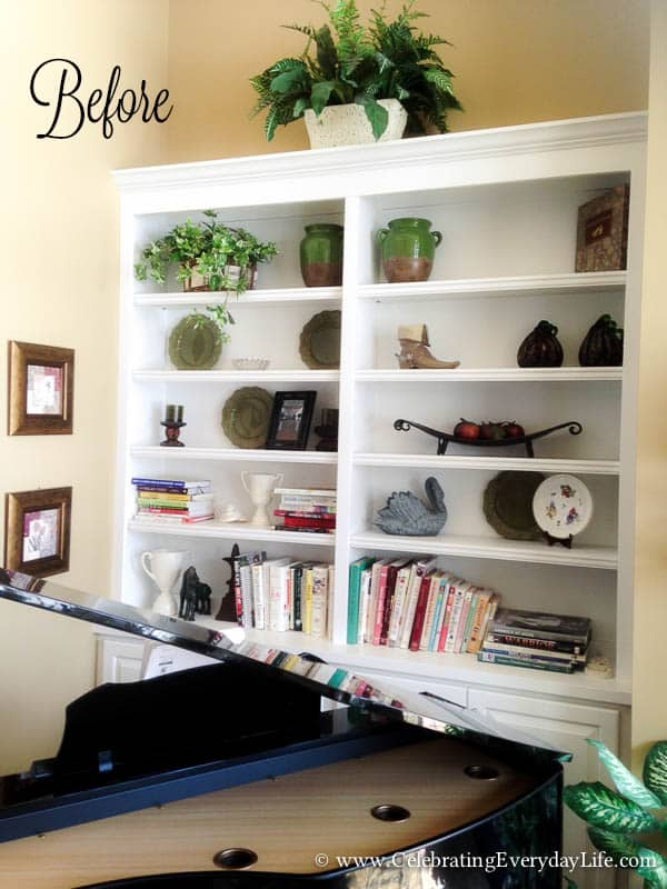 How to Style Bookshelves, Adding Layers to Bookshelves, Styling Bookshelves,  How to Decorate