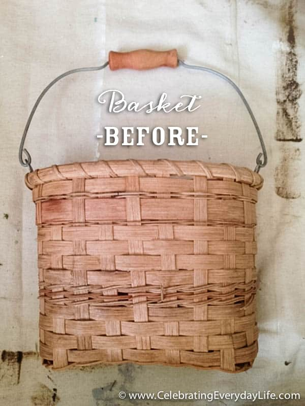 Basket Makeover with Milk Paint, How to Paint a Basket with Milk Paint, Lucketts Green Milk Paint, Miss Mustard Seed Milk Paint, Basket Makeover, Basket DIY, Celebrating Everyday Life with Jennifer Carroll
