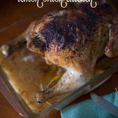 Baked Upside Down Lemon-Onion Chicken