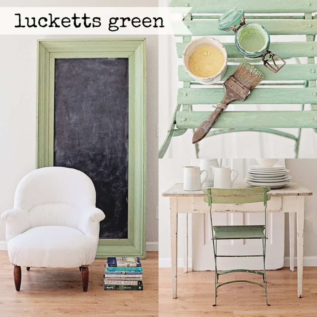 Lucketts Green Collage, Miss Mustard Seed Milk Paint