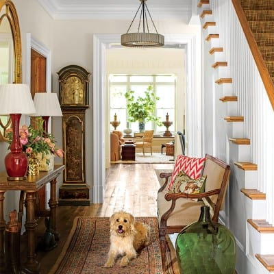 Foyer of 2015 Southern Living Idea House, Interior Design by Bunny Williams, Celebrating Everyday Life with Jennifer Carroll