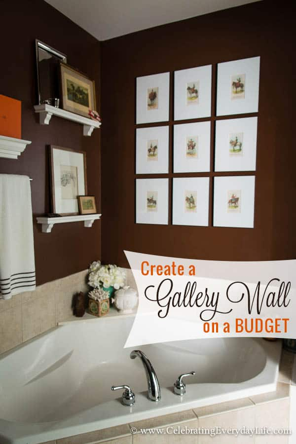 How to Create & Hang a Gallery Wall on a budget, how to hang a gallery wall, Free art, download free art, Cheap home decor, decorate for less, free statement art, Celebrating Everyday Life with Jennifer Carroll