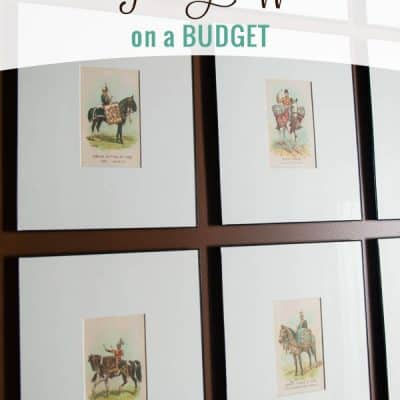 How to Create & Hang a Gallery Wall on a Budget