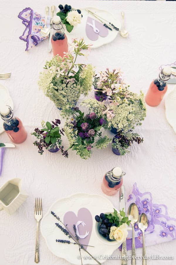 Lavender Summer Table, lilac summer table, purple table, summer entertaining ideas, outdoor summer entertaining, Celebrating Everyday Life with Jennifer Carroll