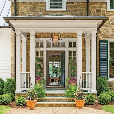 Portico at 2015 Southern Living Idea House, Interior Design by Bunny Williams, Celebrating Everyday Life with Jennifer Carroll
