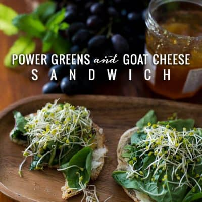 Power Greens and Goat Cheese Sandwich