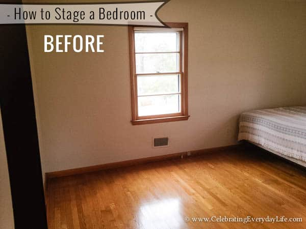 how to stage a bedroom inch White