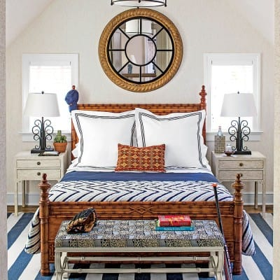 Boys room at 2015 Southern Living Idea House, Interior Design by Bunny Williams, Wallpaper by Michael Riley, Celebrating Everyday Life with Jennifer Carroll