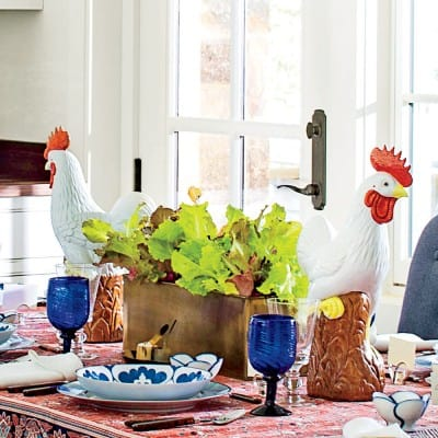 kitchen centerpiece at the 2015 Southern Living Idea House, Interior Design by Bunny Williams, Celebrating Everyday Life with Jennifer Carroll