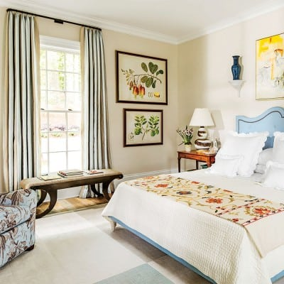 master bedroom at the 2015 Southern Living Idea House, Interior Design by Bunny Williams, Celebrating Everyday Life with Jennifer Carroll