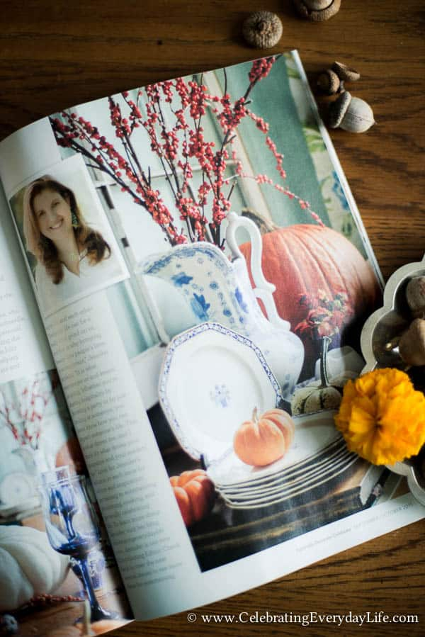 Celebrate magazine, Fall celebrate magazine, Fall decorating ideas, Autumn decorating ideas, Fall entertaining ideas, Autumn entertaining ideas, Celebrating Everyday Life with Jennifer Carroll