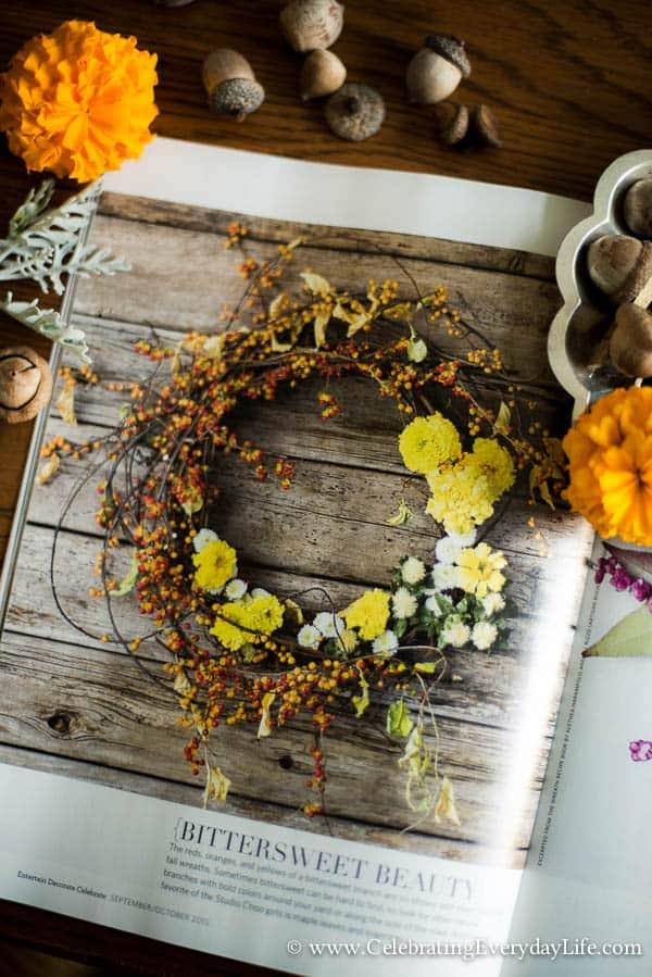 Celebrate magazine, Fall celebrate magazine, Fall decorating ideas, Autumn decorating ideas, Fall entertaining ideas, Autumn entertaining ideas, Celebrating Everyday Life with Jennifer Carroll