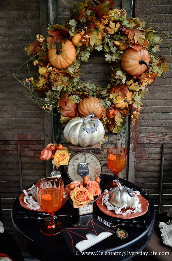 Set a Halloween Table, Set a Romantic Halloween Table, Halloween table decor, halloween decor ideas, halloween porch party, Celebrating Everyday Life with Jennifer Carroll