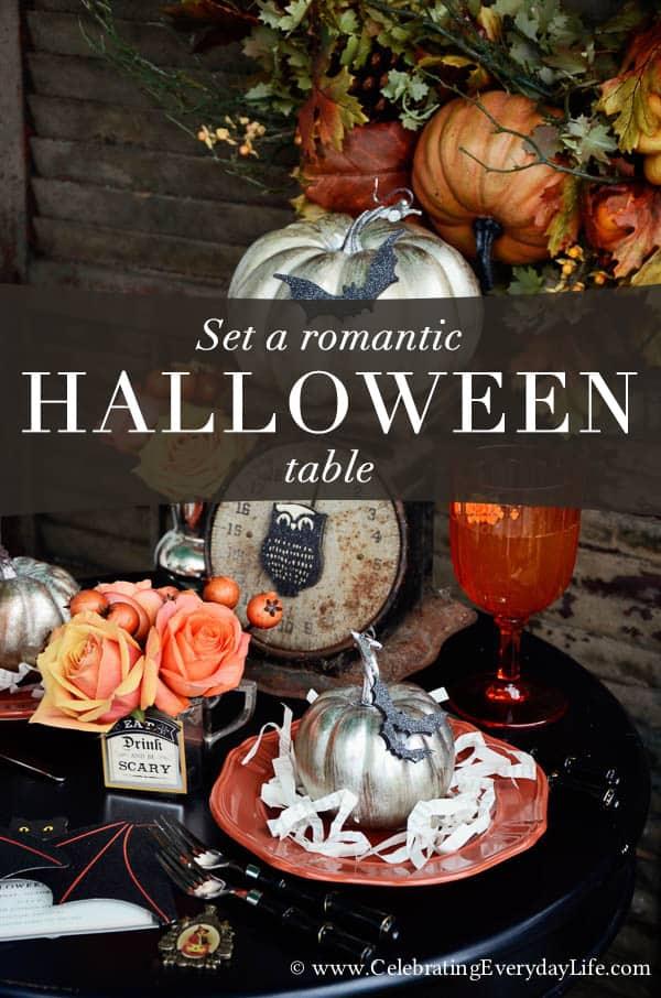 Set a Halloween Table