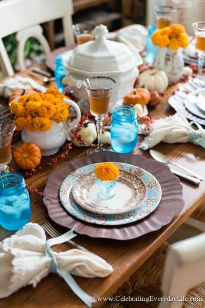 Touches of Fall Decor in my Kitchen and Dining Room
