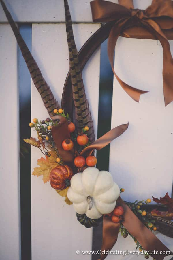 Picture Frame Wreath Tutorial, How to make a picture frame wreath, Fall wreath ideas, Celebrating Everyday Life with Jennifer Carroll