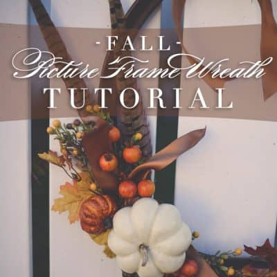 Fall Picture Frame Wreath Tutorial