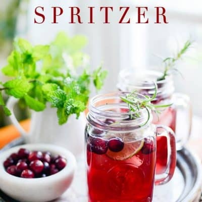 Cranberry Green Tea Spritzer recipe