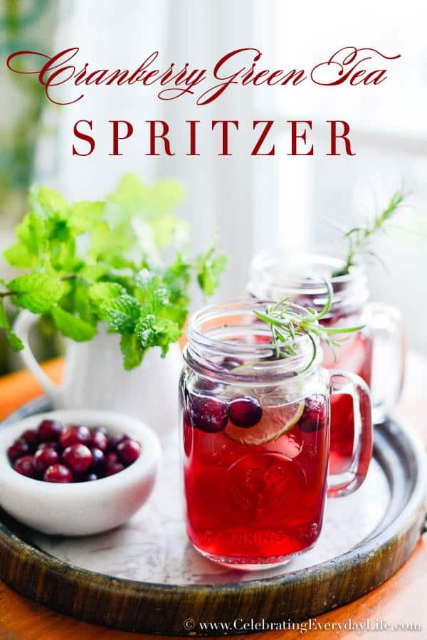 Cranberry Green Tea Spritzer recipe