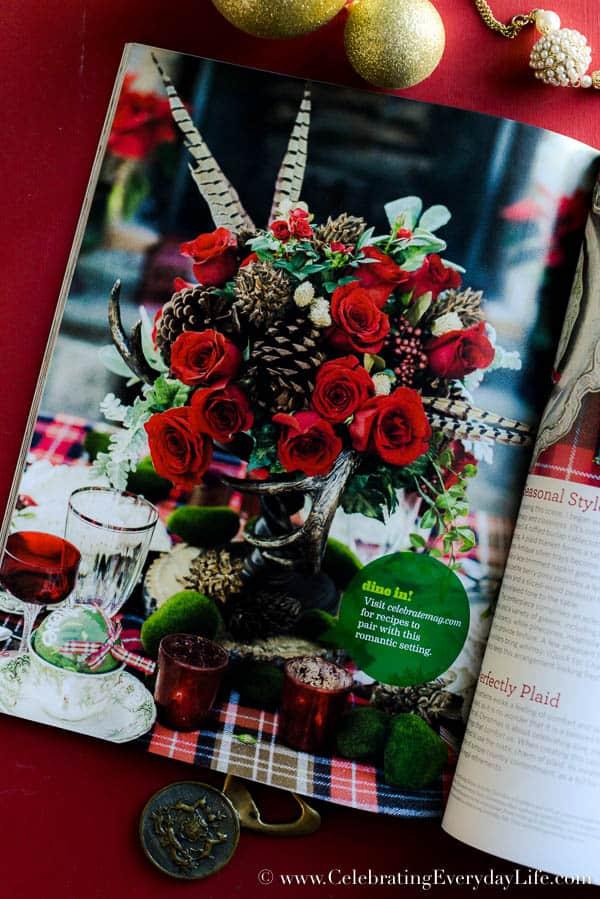 Celebrate magazine, Christmas issue of Celebrate magazine, Christmas decorating ideas, Christmas magazine, Celebrating Everyday Life with Jennifer Carroll