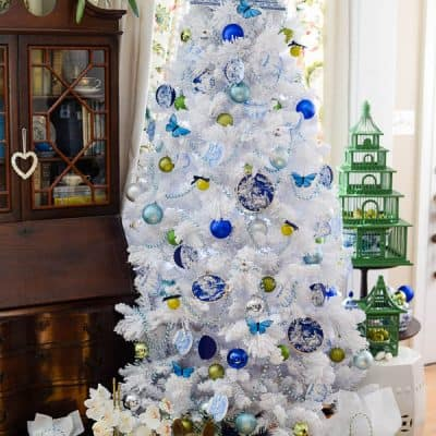 Blue & White Christmas Tree