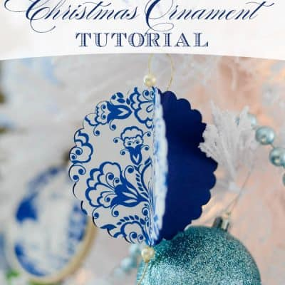 DIY Paper Christmas Ornament Tutorial