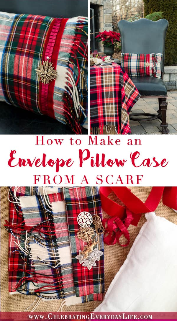 How to Make a Pillow Case from a Scarf