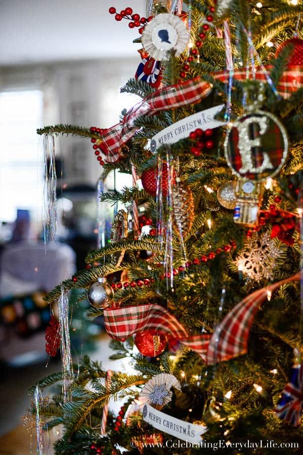 My 2015 Plaid Christmas Tree Celebrating Everyday Life