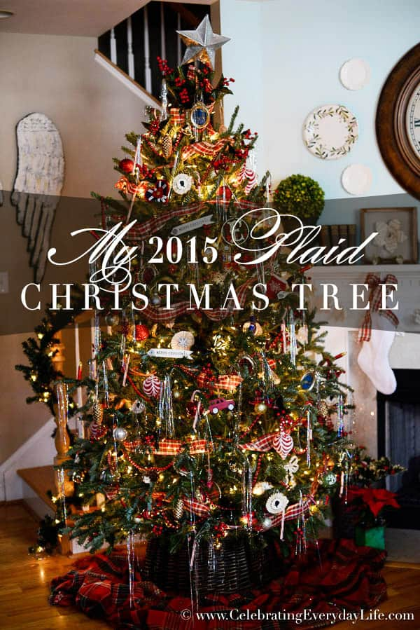 my 2015 plaid christmas tree