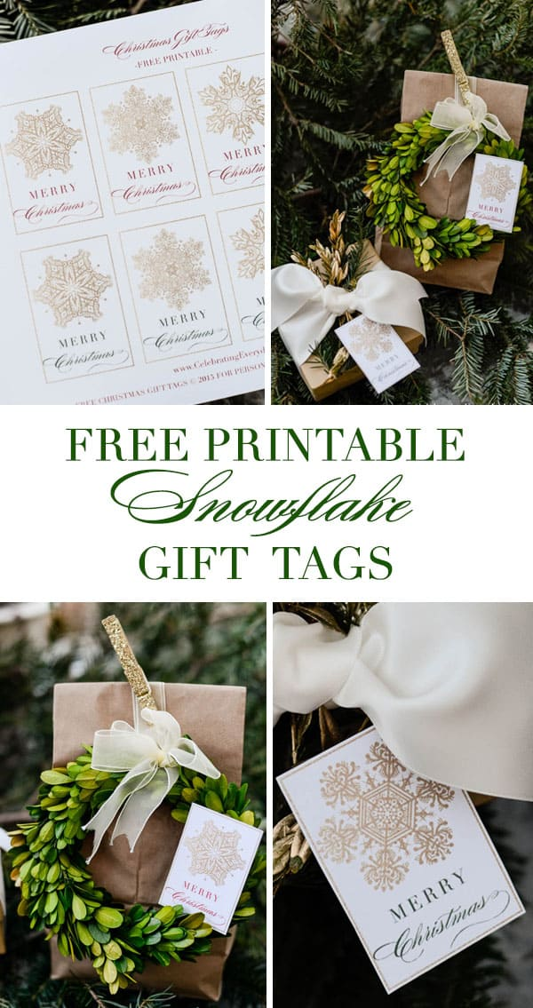 Snowflake Gift Tags, Free Printable Gift Tags, Free Printable Snowflake Gift Tags, Free Christmas Printable, Celebrating Everyday Life with Jennifer Carroll