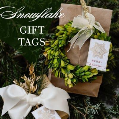 Free Printable Snowflake Gift Tags