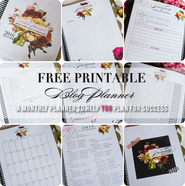 2016 Free Blog Planner Printable, How ot have a successful blog, Celebrating Everyday Life with Jennifer Carroll