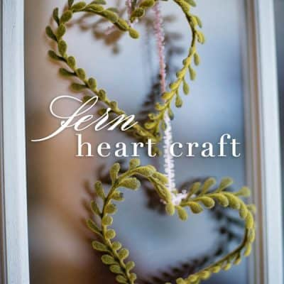 Faux Fern Heart Craft