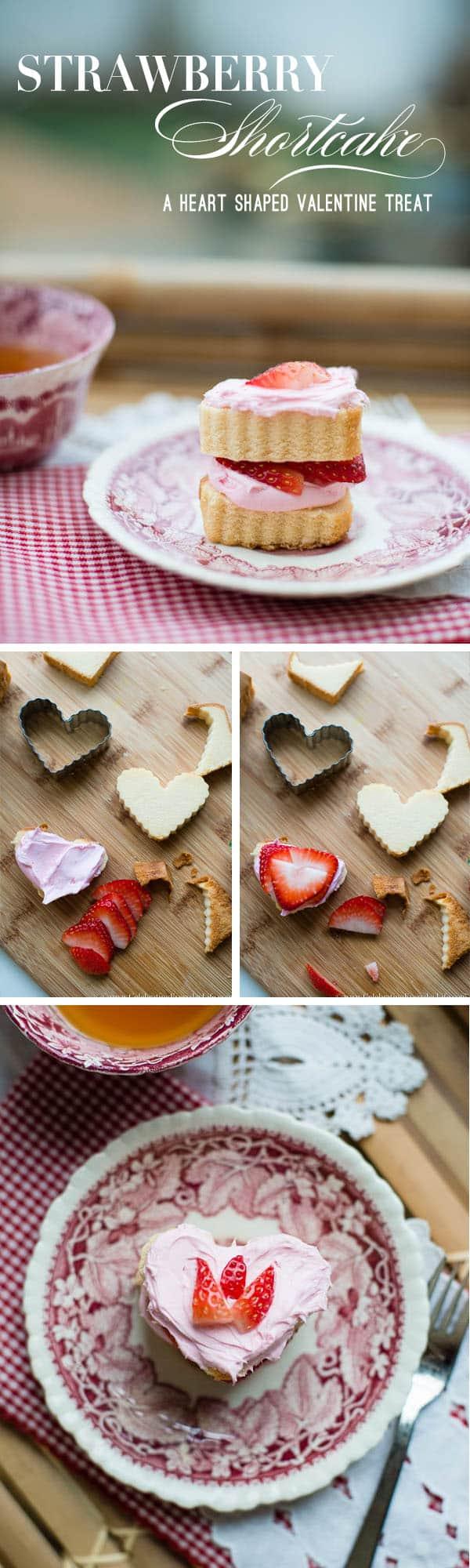 no bake Strawberry Shortcake recipe, heart shaped strawberry shortcake recipe, simple valentine dessert, simple strawberry dessert, 10 minute dessert recipe, Celebrating Everyday Life with Jennifer Carroll