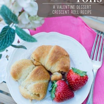 White Chocolate Strawberry Dessert Crescent Roll Recipe