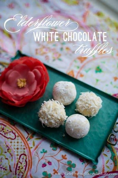 Elderflower White Chocolate Truffles