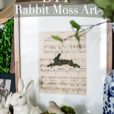 DIY Rabbit Moss Art