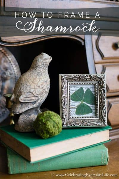 How to Frame A Shamrock – Lucky Art