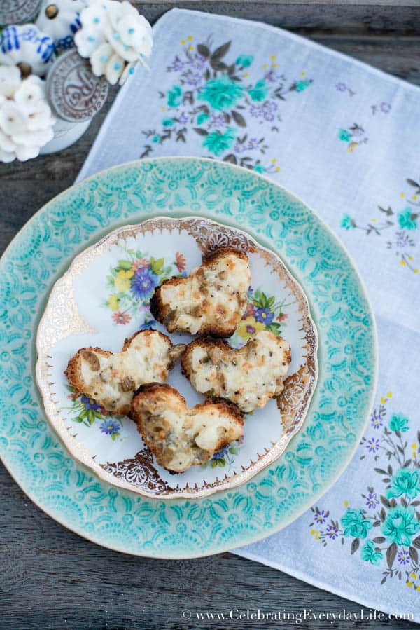 Olive Parmesan Puffs recipe, easy appetizer recipe, simple party food recipe, Celebrating Everyday Life with Jennifer Carroll