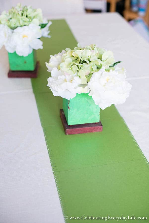 How to decorate a table with a Paper Table Runner, Paper St. Patricks Day Decor, Paper Table Decor, Celebrating Everyday Life with Jennifer Carroll