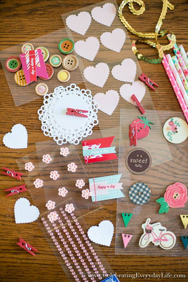 Valentine Craft supplies, Decorate Your Own Valentine Straw Bouquet, Paper Straw Bouquet, Valentine Craft Ideas, Celebrating Everyday Life with Jennifer Carroll