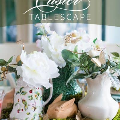 Moss Inspired Easter Tablescape
