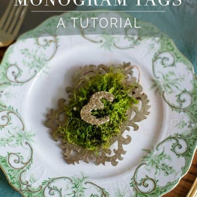 Moss Monogram Tag Tutorial
