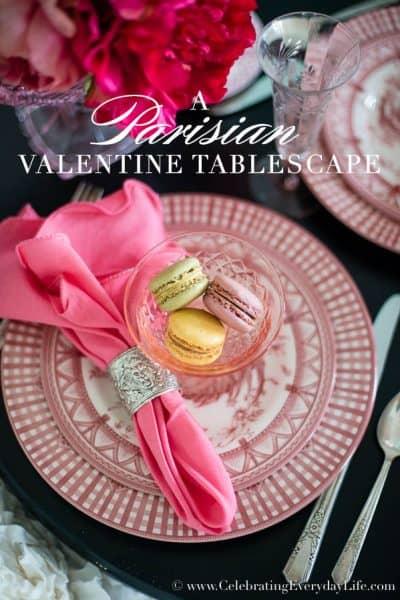 A Parisian Valentine Tablescape