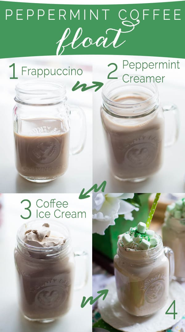 Supplies for Peppermint Coffee Ice Cream Float, St. Patrick's Day Recipe, Christmas Recipe, Coffee Dessert recipe, Easy Coffee Dessert, Celebrating Everyday Life with Jennifer Carroll