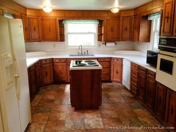 Kitchen BEFORE, Hartfield, Celebrating Everyday Life with Jennifer Carroll