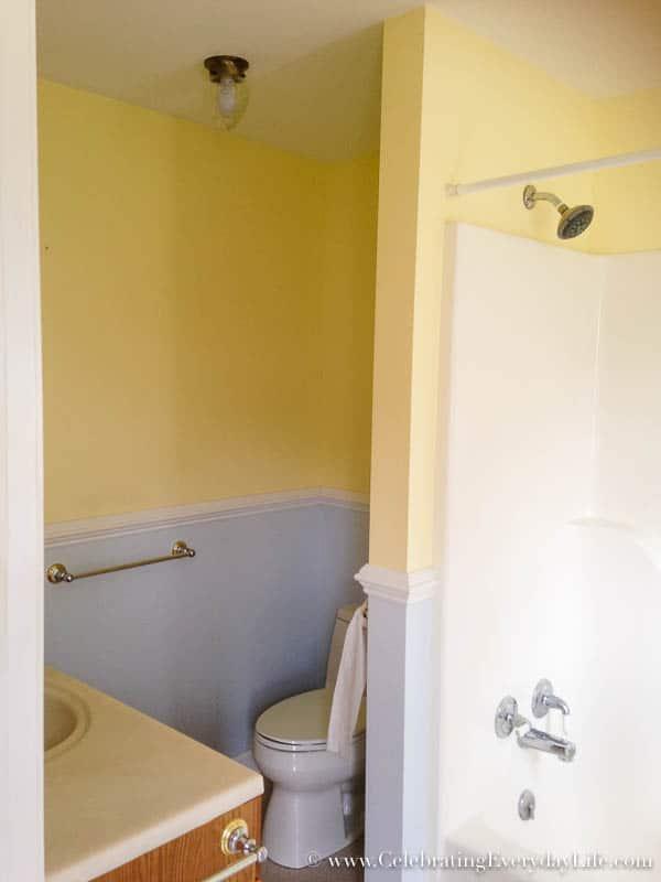 Master Bathroom BEFORE, Hartfield, Celebrating Everyday Life with Jennifer Carroll