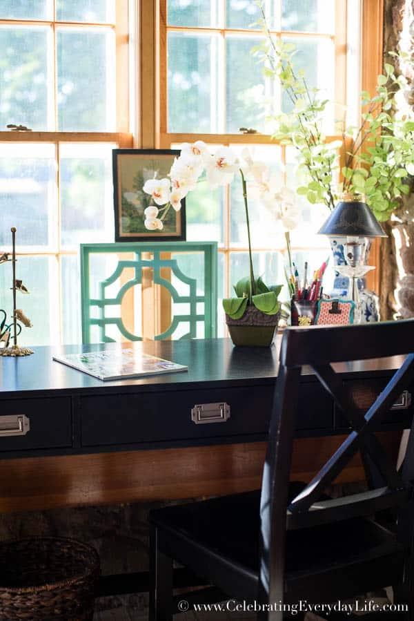 Sun Room Decor Before & After, Sun Room Decor, Shabby Chic Sun Room, Bright and Cheery Sunroom, Sunroom decor ideas, Porch decorating ideas, Solarium decor, Celebrating Everyday Life with Jennifer Carroll